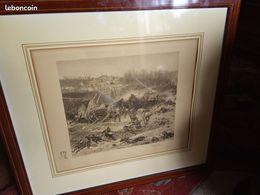 Gravure Edmond Pennequin    : La Bataille De Champigny - Gravados