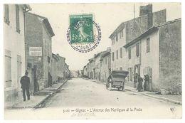GIGNAC - L' Avenue Des Martigues Et La Poste - Beau Cachet Perlé (2207 ASO) - France