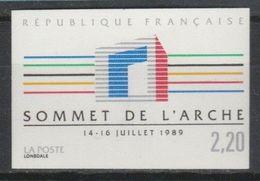 France N° 2600 Non Dentelé ** Année 1989 - Non Dentellati