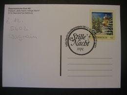 Österreich- Advent Wagrain 08.12.2012 Stille Nacht Sonderpostamt Auf Karte Oberndorf Mit Pers.BM - Sellos Privados