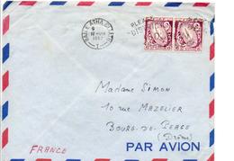 IRLANDE EIRE AFFRANCHISSEMENT COMPOSE SUR LETTRE POUR LA FRANCE 1962 - 1949-... Repubblica D'Irlanda