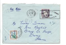 IRLANDE EIRE LETTRE POUR LA FRANCE TAXEE A L'ARRIVEE 1966 - 1949-... Repubblica D'Irlanda