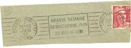 INDRE - Dépt N° 36 = CHATEAUROUX GARE 1949 =  FLAMME RBV ' GRANDE SEMAINE BERRICHONNE' - Maschinenstempel (Werbestempel)