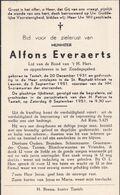 Testelt -Doodsprentje -Alfons Everaerts - 1931 - 1951 - Scherpenheuvel-Zichem