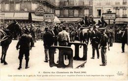 CPA Paris 10e - Gréve Des Cheminots Du Nord (88014) - Huelga