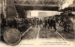 CPA Paris 10e - Gréve Des Cheminots Du Nord (88021) - Huelga