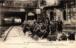 CPA Paris 10e - Gréve Des Cheminots Du Nord (88024) - Huelga