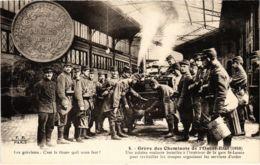 CPA Paris 10e - Gréve Des Cheminots Du Nord (88028) - Huelga