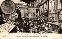 CPA Paris 10e - Gréve Des Cheminots Du Nord (88032) - Huelga