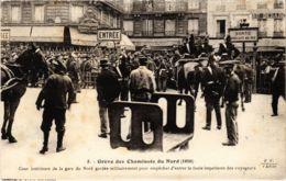 CPA Paris 10e - Gréve Des Cheminots Du Nord (88034) - Huelga