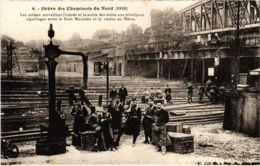 CPA Paris 10e - Gréve Des Cheminots Du Nord (88040) - Huelga