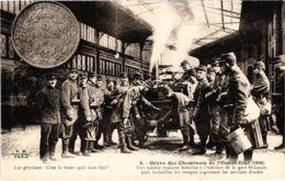 CPA Paris 17e - Gréve Des Cheminots De L'Ouest-Etat (88041) - Huelga