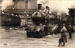 CPA Paris 10e - Gréve Des Cheminots Du Nord (88043) - Huelga