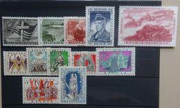 BELGIE 1957   Nr. 1032 - 1036 / 1039 - 1045   Spoor Van Scharnier *    CW 28,00 - Unused Stamps