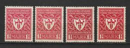 MiNr. 199 A, B, C, D ** Geprüft - Unused Stamps