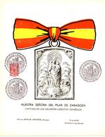 2 Tarjetas Grandes Con Viñeta De Zaragoza Centenario De La Universidad. - Verschlussmarken Bürgerkrieg
