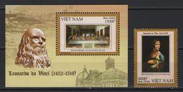 Vietnam (2019) - Set + Block -   /  Leonardo Da Vinci - Art - Paintings - Pintura - Tableaux - Peintres - Heritage - Célébrités