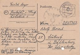 ALLEMAGNE 1945 ZONE ANGLO AMERICAINE  ENTIER POSTAL/GANZSACHE/POSTAL STATIONARY CARTE DE HERFORD - Zona Anglo-Américan