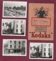 280720 - Lot 4 Photos - GUERRE 39/45 - CHALONS SUR MARNE EN CHAMPAGNE Bombardement Ruines KODAK Rails Chemin De Fer - Guerre, Militaire