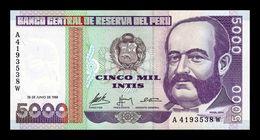 Perú 5000 Intis 1988 Pick 137 SC UNC - Perù