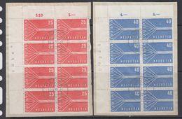 Europa Cept 1957 Switzerland 2v (8x) Used On Paper  (49076) - 1957