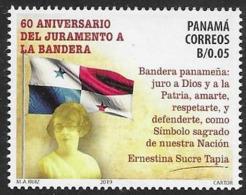 PANAMA, 2019, MNH, FLAGS, PANAMANIAN FLAG, OATH TO THE FLAG, 1v - Briefmarken