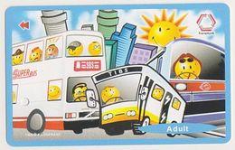 Singapore Subway Train Bus Ticket Farecard Transitlink Used - Métro