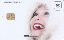 ISN-281 TARJETA DE ESPAÑA DE ISERN DE LA SERIE FELICIDAD Nº2 (MUJER-WOMAN) - Espagne