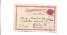 Karte Aus Stockholm Nach Berlin 1914 - Brieven En Documenten