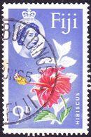 FIJI 1963QEII 9d Scarlet, Yellow, Green & UltramarineSG315 FU - Fiji (...-1970)