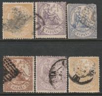 Spain 1874 Sc 201-3,205-7 Mi 135-7,138-140 Partial Set Used - 1873-74 Regentschaft