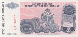 Servie : 100000 Dinara 1993 UNC - Serbia