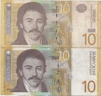 Servie & Yougoslavie : Jumeaux De 10 Dinara 2006/2000 - Serbia