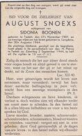 Testelt -Doodsprentje - August Snoexs - 1901 - 1944 - Scherpenheuvel-Zichem