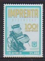 COLOMBIA, 2019, MNH,IMPRENTA DISTRITAL DE BOGOTA, 100th ANNIVERSARY OF STATE PRINTERS, 1v - Briefmarken
