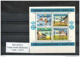 Belgique. Ligue Royale D'athlétisme. 1962. Championnats Européens à Belgrade - Erinnophilie