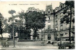 N°2225 R -cpa Le Mans -hôtel De Paris- Avenue Thiers- - Le Mans