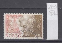 102K1263 / 1986 - Michel Nr. 956 Used  ( O ) Tore Ørjasæter Educator, Literature Critic And Poet Norway Norvege Norweege - Norwegen