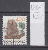 102K1284 / 1989 - Michel Nr. 1011 Used  ( O ) Norwegian Animals Sciurus Vulgaris Red Squirrel , Norway Norvege Norweege - Norwegen