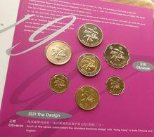 Hong Kong Set 10 20 50 Cents 1 2 5 10 $ 1997 Hongkong Folder - Hong Kong