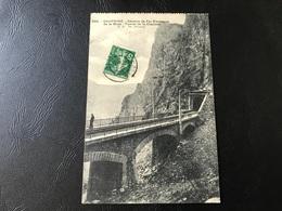 564 - DAUPHINÉ CWhemin De Fer Electrique De La Mure - Tunnel De La Clapisse - 1912 Timbrée - La Mure