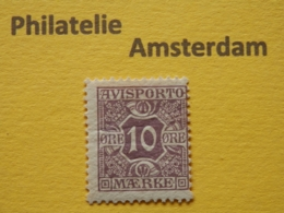Denmark 1907, AVISPORTO MÆRKE: Mi 4, * - Fiscali