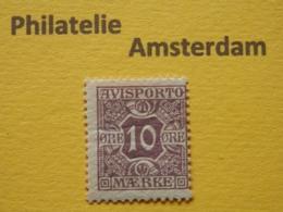 Denmark 1907, AVISPORTO MÆRKE: Mi 4, * - Steuermarken