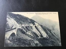 1526 - Dauphiné - Chemin De Fer électrique De LA MURE. Passage De La Rivoire - 1910 Timbrée - Petite Pub - La Mure