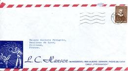 DANEMARK LETTRE DE ALBORG POUR LA FRANCE 1973 - Denmark