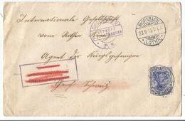 GERMANIA 20C LETTRE MORSBACH 23.9.1915 LOTHR + GEPRUFT DIEDENHOFFEN TO SUISSE - Poststempel (Briefe)