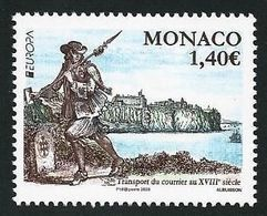 "MONACO - EUROPA 2020 -""ANTIGUAS RUTAS POSTALES - ANCIENT POSTAL ROUTES"" - SERIE De 1 V. - N - Europa-CEPT"