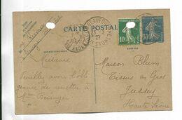 70 - Carte Postale Commerciale écrite Par Mme Kremer De GOURGEON ( 70 ) à Destination De Jussey ( 70 ) - Francia