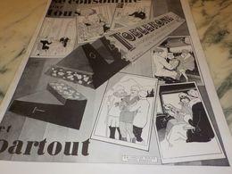 ANCIENNE PUBLICITE CONSOMME PARTOUT TOBLERONE 1927 - Affiches