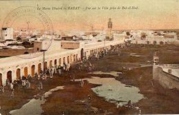 RABAT - 500  1 - Vue Sur La Ville Prise De Bab-el-Had. Cachet Troupes Auxiliaires Marocaines. - Rabat